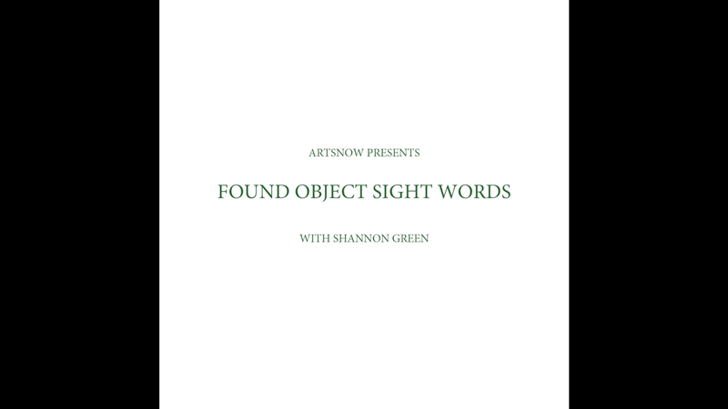 New Digital Ideas: Found Object Sight Words