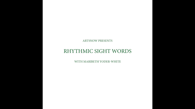 New Digital Ideas: Rhythmic Sight Words