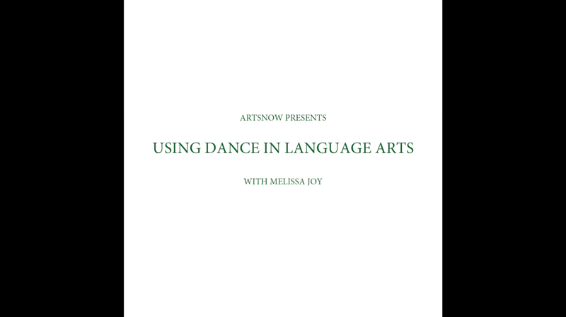 New Digital Ideas: Using Dance In Language Arts