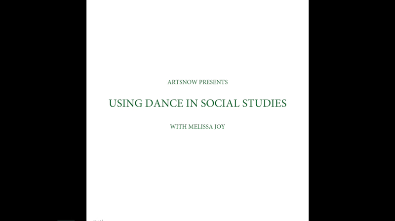 New Digital Ideas: Using Dance In Social Studies