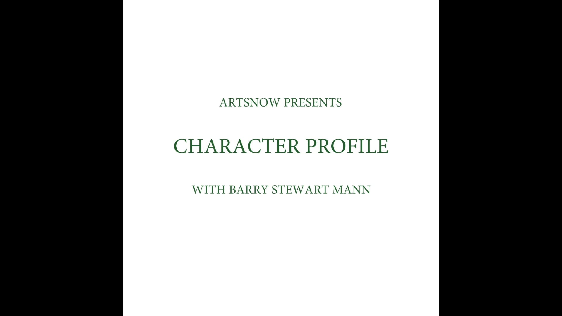 New Digital Ideas: Character Profile