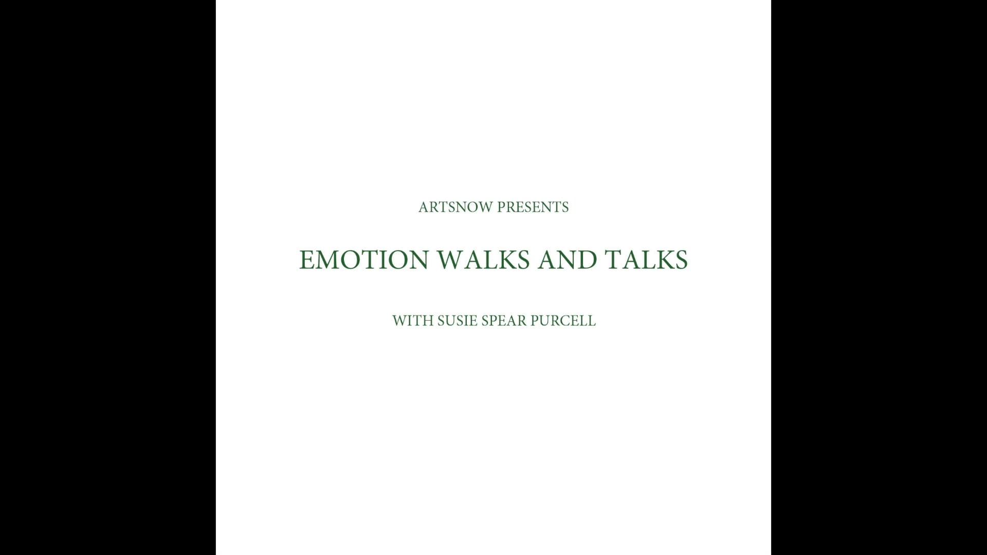 New Digital Ideas: Emotion Walks and Talks