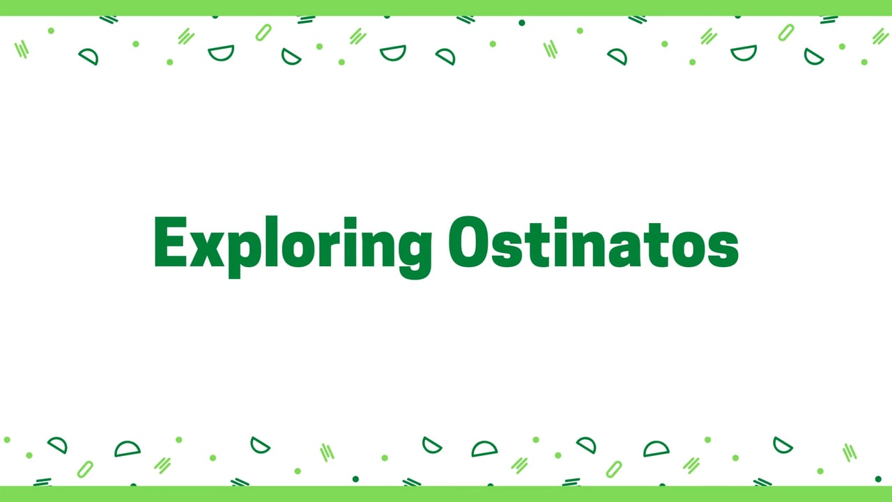 New Digital Ideas: Exploring Ostinatos