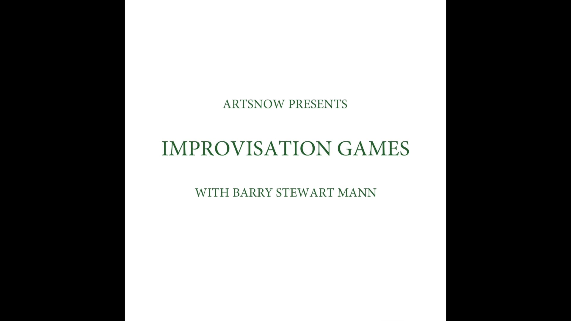 New Digital Ideas: Improvisation Games