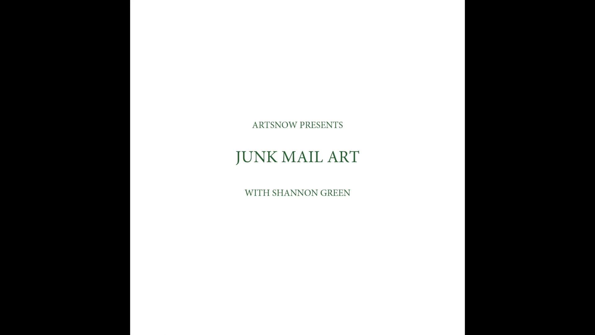 New Digital Ideas: Junk Mail Art