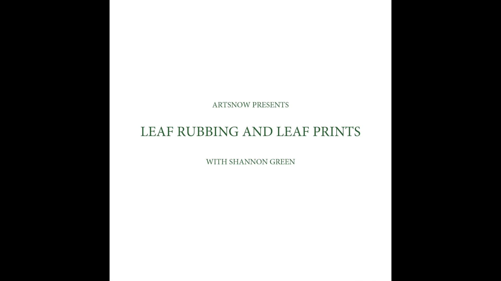 New Digital Ideas: Leaf Rubbing and Leaf Prints