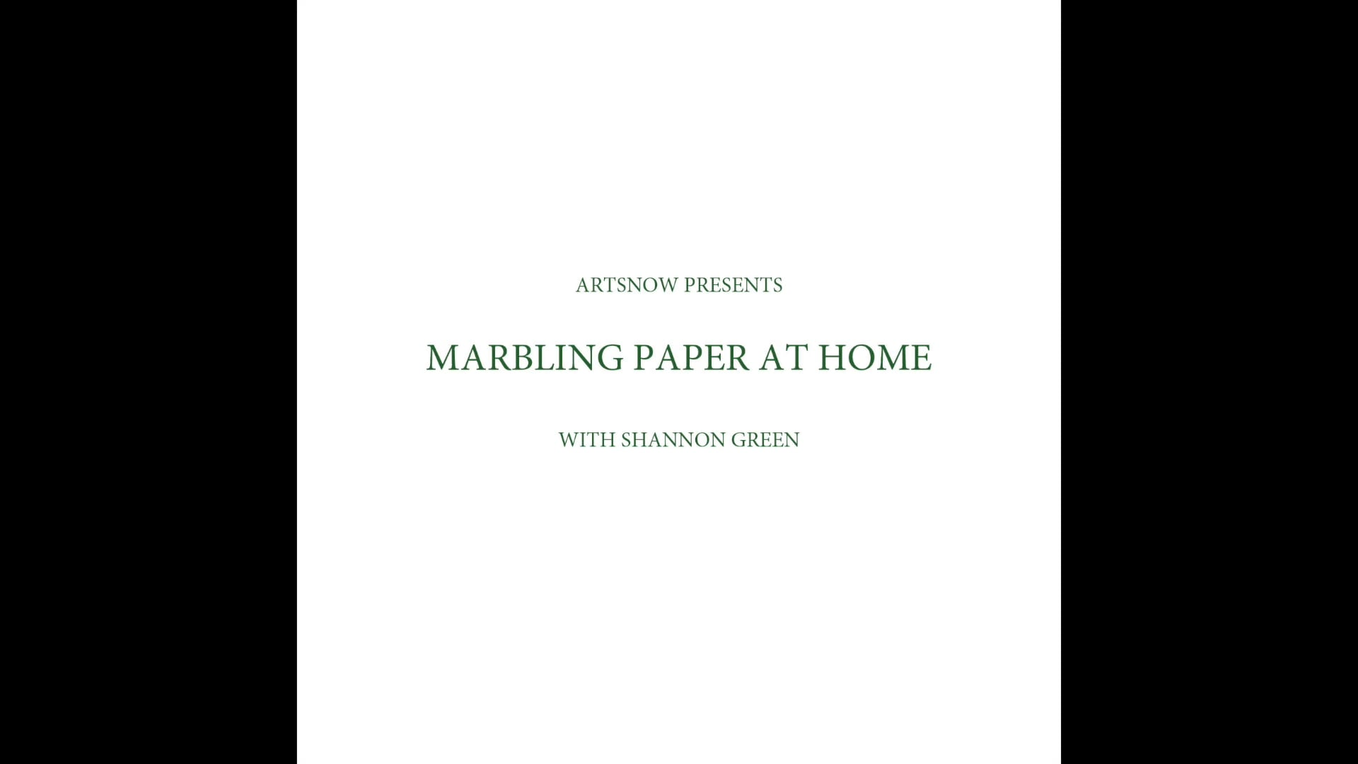 New Digital Ideas: Marbling Paper At Home
