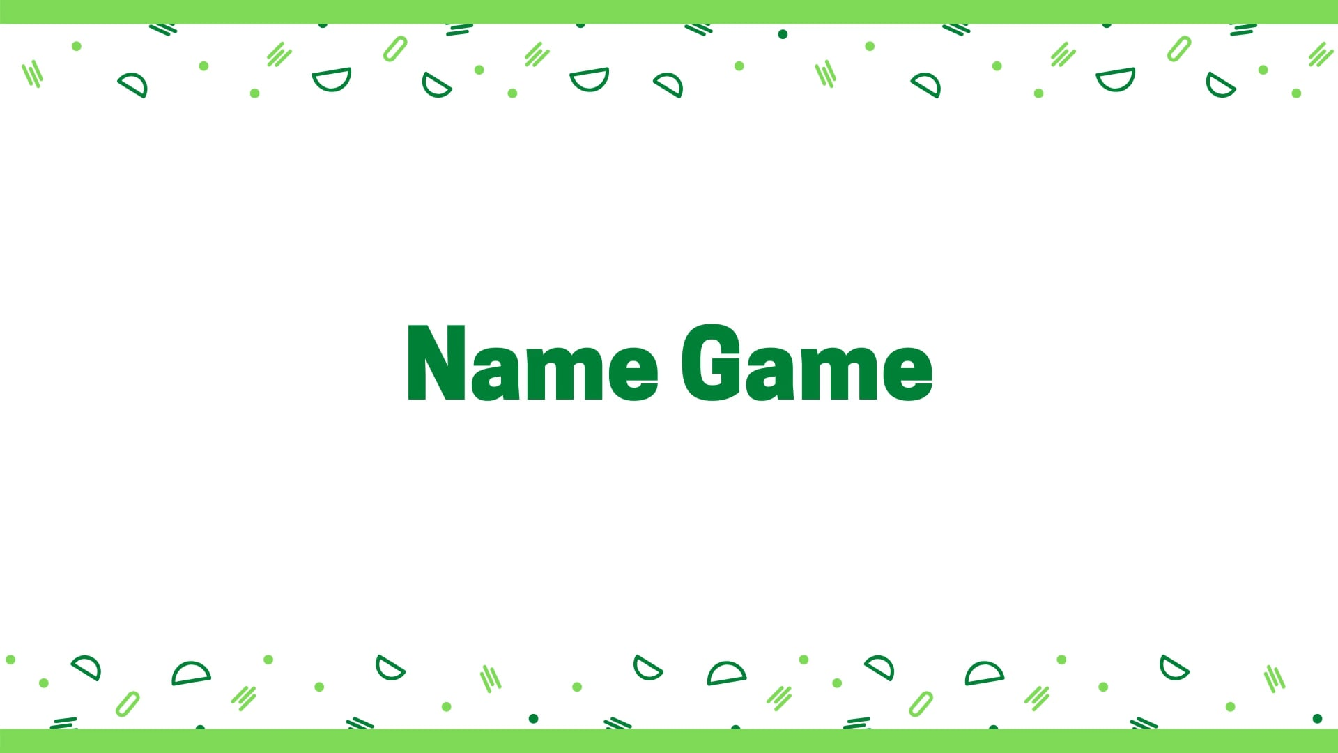 New Digital Ideas: Name Game