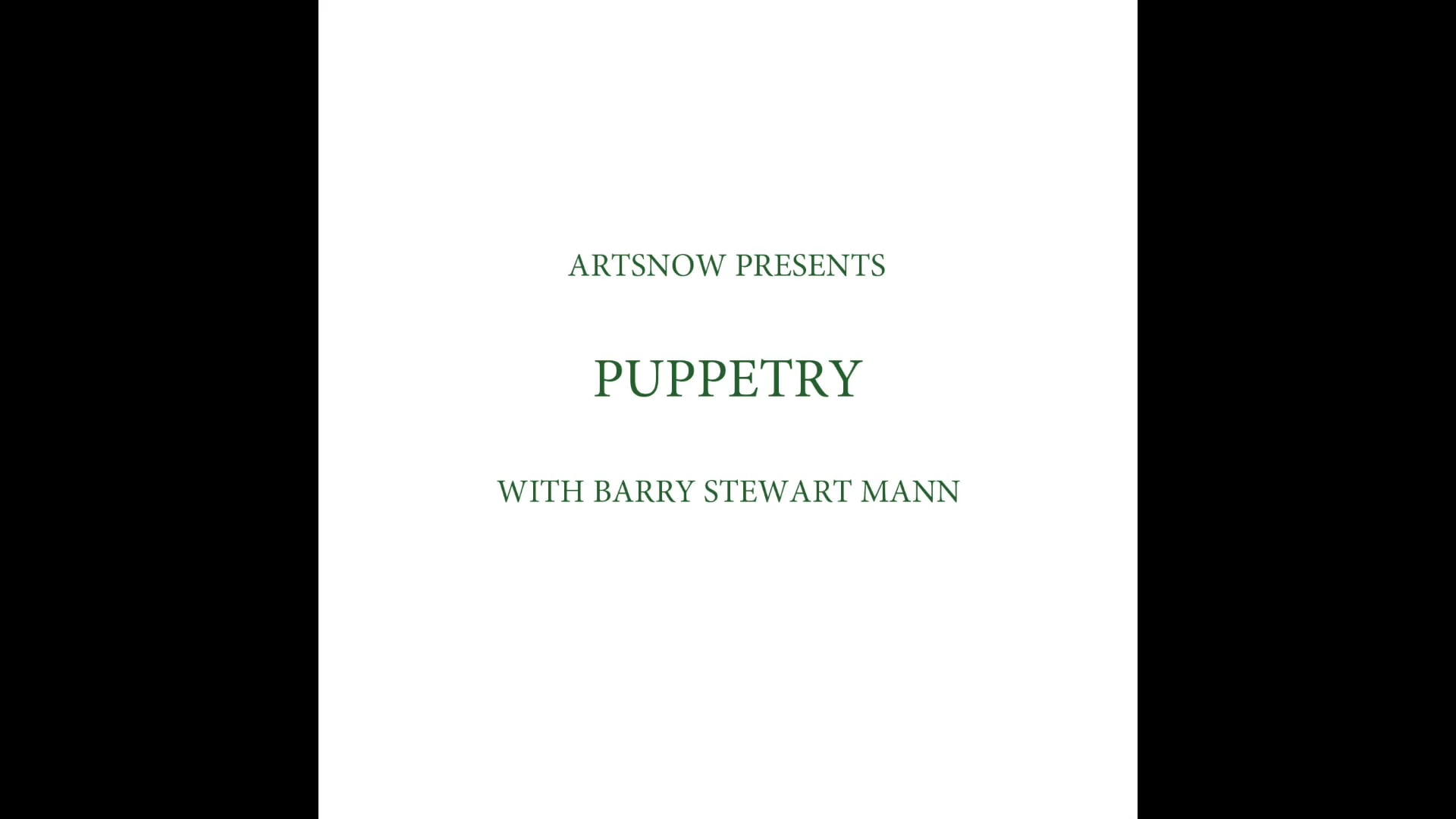 New Digital Ideas: Puppetry