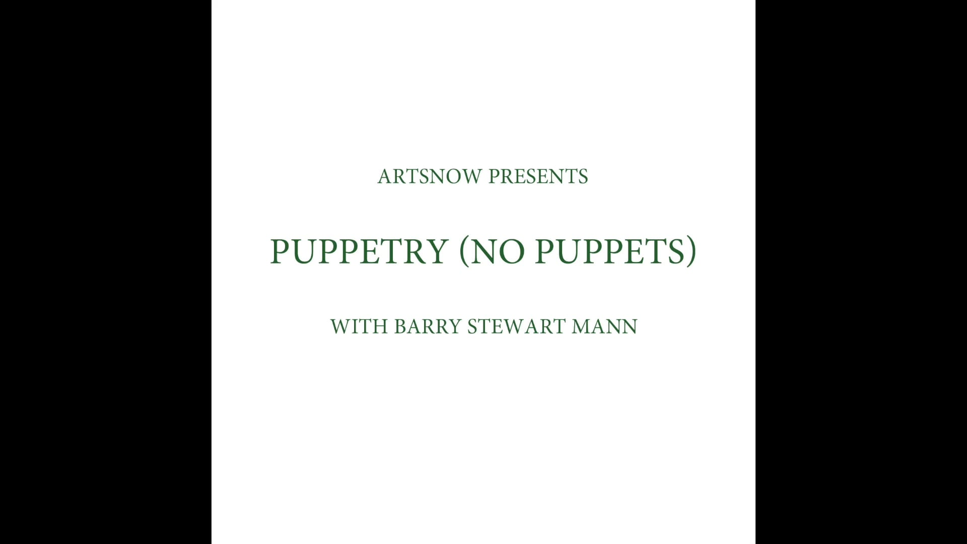 New Digital Ideas: Puppetry Without Puppets