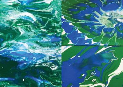 Grades 6-8:Pour Painting