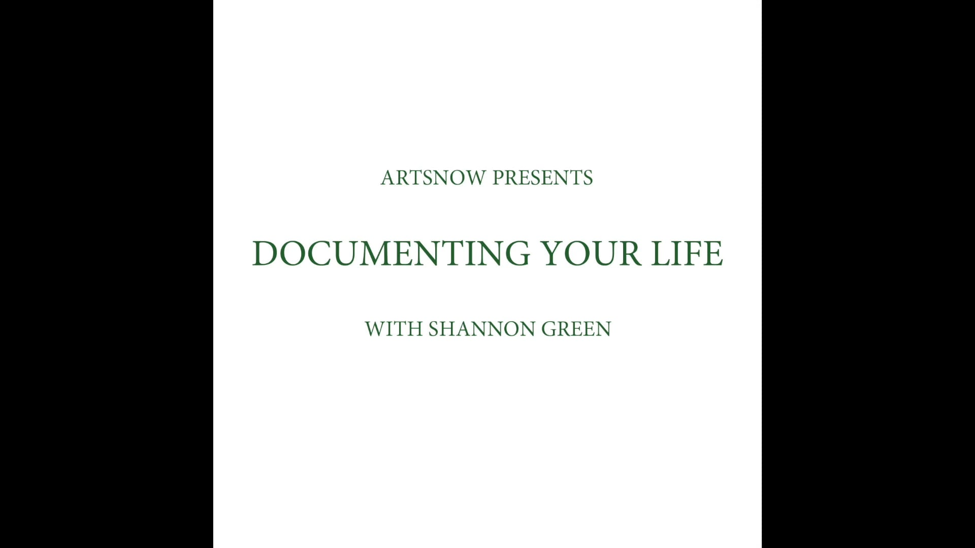 New Digital Ideas: Documenting Your Life