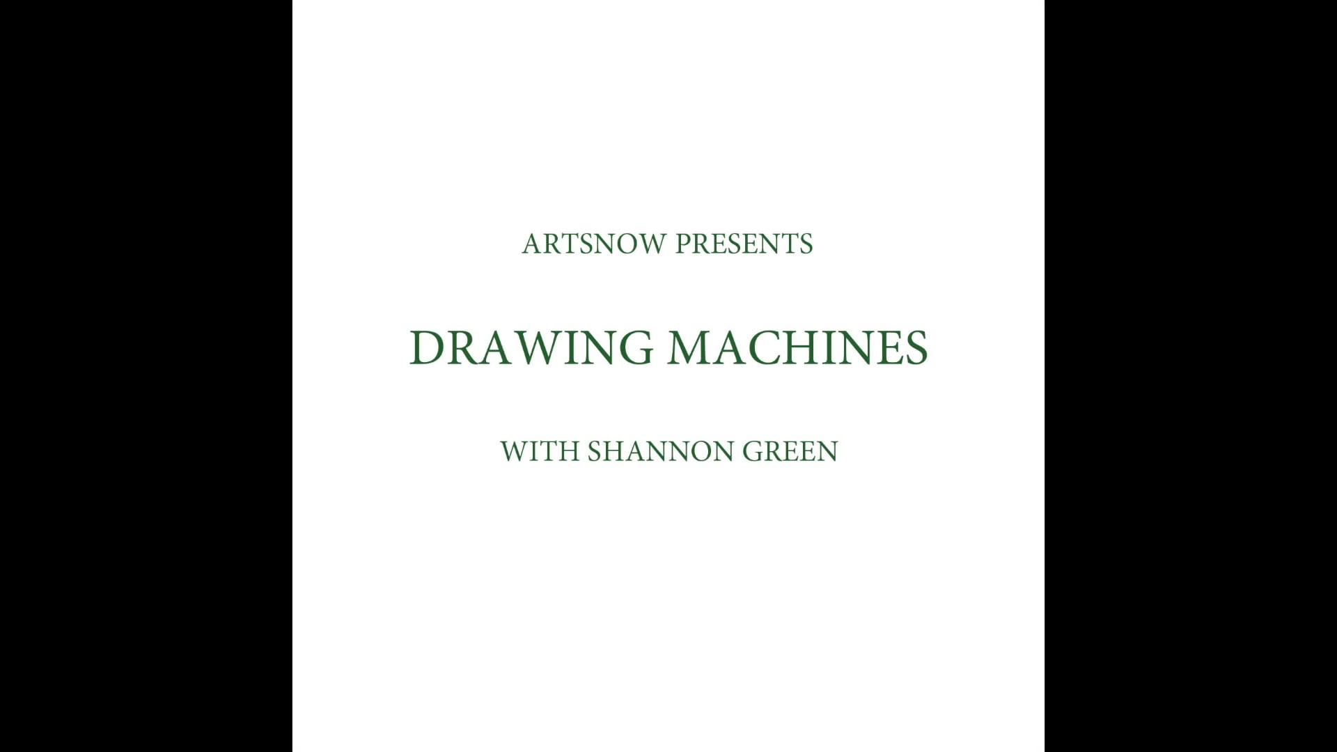 New Digital Ideas: Drawing Machines